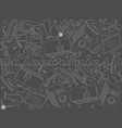 electronics chalk line art design vector image