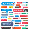 Online store sale web shopping buttons vector image