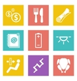 Icons for Web Design set 16 vector image