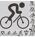 2292 set of cycling icons vector image