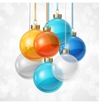 Holiday background card template with christmas vector image