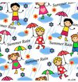 people in the rain vector image