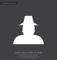 detective premium icon white on dark background vector image