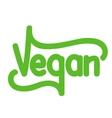Vegetarian green text vector image