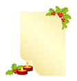 christmas form for the letter with new year decora vector image