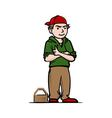 Cool boy with red hat vector image