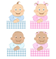 babies boy and girl vector image