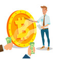 bitcoin innovative start up monetization vector image