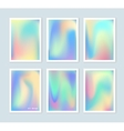 Bright holographic backgrounds set vector image