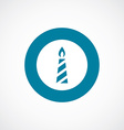 candle icon bold blue circle border vector image