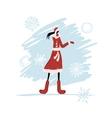 Girl in winter coat for your design vector image