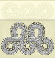 infinity tattoo template in mehndi style vector image