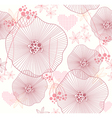 seamless pattern with flowers and hearts vector image