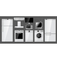 Set of realistic household appliances vector image