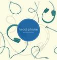 speaker and headphones set seamless pattern vector image