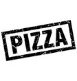 square grunge black pizza stamp vector image