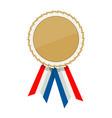white ribbon awards template vector image