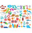 Summer Travel Icon Set vector image vector image