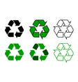 recycle symdol set vector image