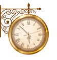 Street clock vector image vector image