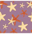 Seamless starfish pattern vector image vector image