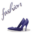 fashionable woman s shoes blue color and fashion vector image