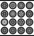 wheels for cars vector image