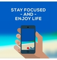 Summertime concept smartphone make picture of vector image vector image