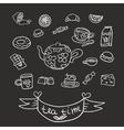 doodle Tea Party vector image