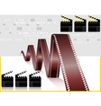 film and clapboard vector image vector image
