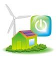 eco energy symbol vector image