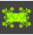 floral frame on metal texture vector image vector image