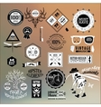 hipster label icon elements vector image