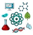 Biology flat concept design vector image vector image