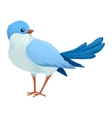 Realistic blue bird looks away Imaginary view vector image