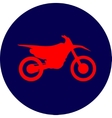 Motocross dirt-bike sign vector image
