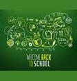 back to school scheme on green chalkboard vector image