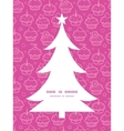 colorful cupcake party Christmas tree silhouette vector image