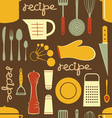 Cooking recipe pattern vector image
