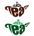element emblem from two teapots for tea vector image