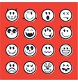 Halloween emoticon icon set collection vector image