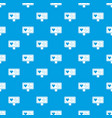 heartbeat pattern seamless blue vector image
