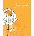 invitation with abstract floral background vector image