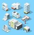 isometric of hypermarket vector image
