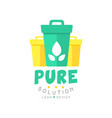 original pure solution logo design template with vector image