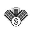 real estate business finance money outline vector image