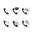 set of handset stickers icons vector image