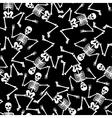 Skeleton dancing seamless pattern vector image
