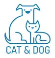 cat dog flat vector image