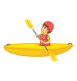 a man in boat vector image vector image